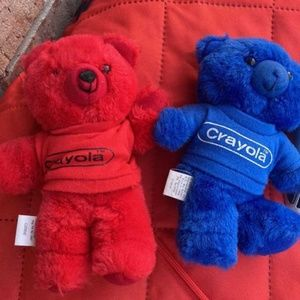 Set of Vintage Crayola Crayon bears